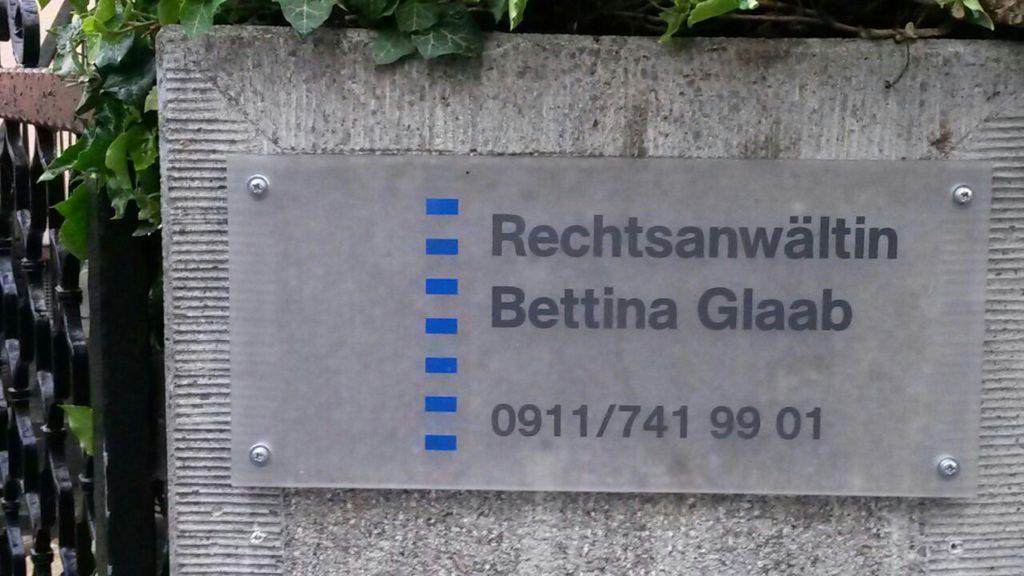 Rechtsanwaltskanzlei Bettina Glaab Fürth